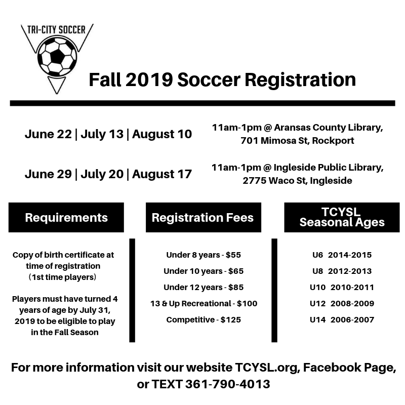 Fall 2019 Soccer Registration