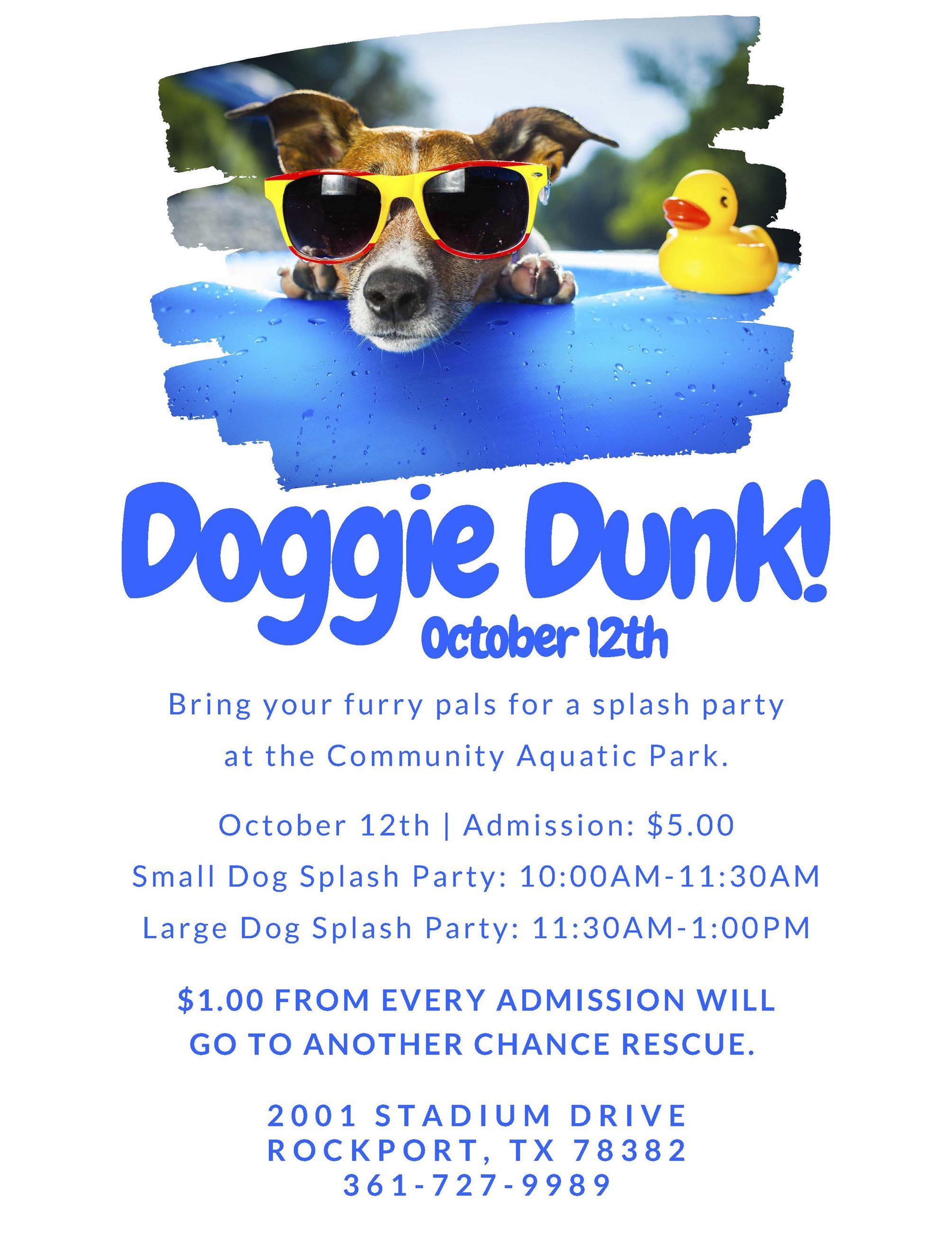 Doggie Dunk!!